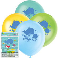 """Under the Sea Pals 8 12"""" Latex Balloons Party Baby Shower 1st Birthday"""