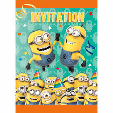 Minion's Birthday Party 8 ct Invitations w/ Envelopes Minion Despicable Me