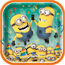 "Minion's 8 ct Lunch 9"" Dinner Plates Birthday Party Minion Despicable Me"