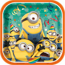 "Minion's 8 ct Dessert 7"" Cake Plates Birthday Party Supplies Minion Despicable Me"