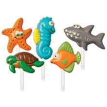 Wilton Sea Creatures Candy Mold Fish Shark Seahorse Starfish Turtle
