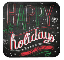 """Chalk Messages """"Happy Holidays to You"""" 8 9"""" Dinner Plates Party"""