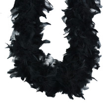 Heavyweight Chandelle Feather Boa Black 120 gm 72 in 6 Ft