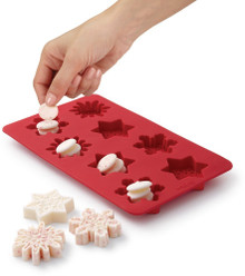 Silicone Snowflake Bark Mold 8 Cavity Candy Treat Wilton