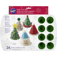 Mini Cone Mold Silicone 24 Cavity Candy Treat Christmas Tree
