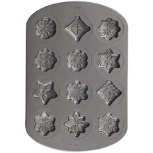 Wilton Christmas Snowflake Stars Cookie Pan Snowflakes 12 Cavity