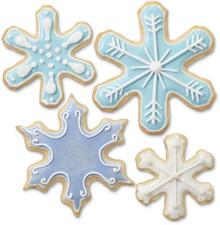 Wilton Snowflake Metal Cookie Cutter Set 7 pc Snowflakes