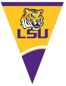 LSU Flag Pendant Banner Tailgating Football Party Supplies