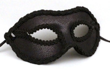 """Twilight Men"" Black Leather Masquerade Halloween Prom Ball Mask"