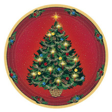 "Warmth of Christmas 9"" Dinner Luncheon Paper Plates 8 Ct"
