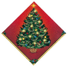 Warmth of Christmas Beverage Cocktail Paper Napkins 16 Ct