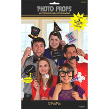 New Years Photo Props Party 13 pc Personalizable Chalk