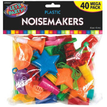 Noisemakers Mega Pack 40 New Years Eve Party Clapper Horns Whistles