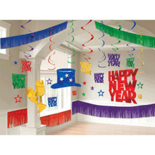 New Years Eve Giant Room Decorating Kit 28 Pc Jewel Tone Colors