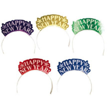 12 Assorted Color Foil Glitter Paper Tiaras Party New Years Eve