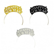 12 Gold Silver Black Foil Glitter Paper Tiaras Party New Years Eve