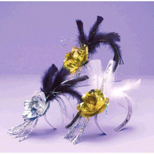 1 Evening Elegance Rose Feather Tiara New Years Eve Party