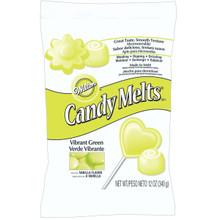 Vibrant Green Wilton Candy Melts 12 oz Molds Holidays Vanilla Flavor