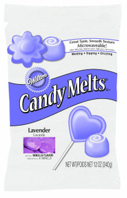 Lavender Wilton Candy melts 12 oz Molds Holidays Vanilla Flavor