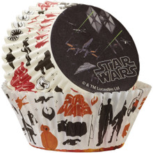 Star Wars 50 ct Baking Cups The Force Awakens Cupcake Liners Wilton