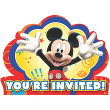 Mickey Mouse Clubhouse Invitations with Envelopes 8 Ct Birthday Party