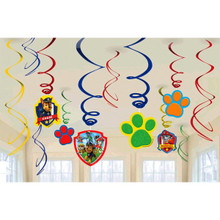 Paw Patrol 12 Swirl Hanging Decorations Value Pack Nickelodeon Chase