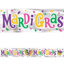 Mardi Gras Foil Banner 9 ft