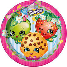 "Shopkins Paper 9"" Dinner Lunch Plates 8 Ct Birthday Party Supplies"