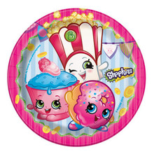 "Shopkins Paper 7"" Dessert Cake Plates 8 Ct Birthday Party Supplies"