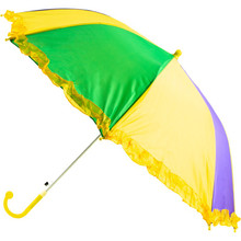 Mardi Gras Umbrella Second Line Parasol Purple Green Gold 18""