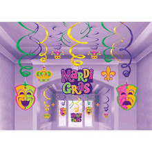 Mardi Gras Hanging Decorations Swirls Mega Value Pack Party Decorations