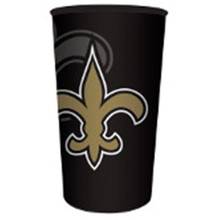 Saints NFL Re-useable Stadium 22 oz Cup Plastic Football Tailgating Party