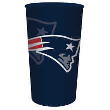 Patriots NFL Re-useable Stadium 22 oz Cup Plastic Football Tailgating Party