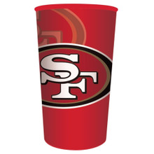 49ers NFL Re-useable Stadium 22 oz Cup Plastic Football Tailgating Party