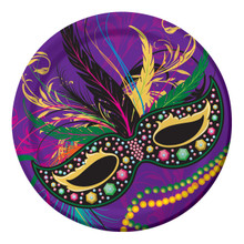 Mardi Gras Masks Collection Party 8 9 inch Paper Lunch Dinner Plates