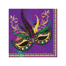 Mardi Gras Masks Collection Party 16 2 Ply Luncheon Napkins