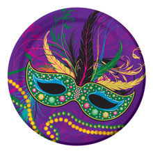 Mardi Gras Masks Collection Party 8 7 inch Paper Dessert Cake Plates