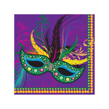 Mardi Gras Masks Collection Party 16 2 Ply Beverage Cocktail Napkins