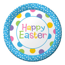 "Happy Easter Chick Celebration Dinner 9"" Plates 8 ct Spring Party"