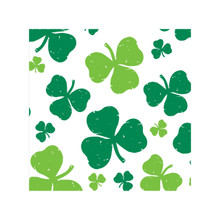 St Pat St Patricks Day Fun Tablecover Plastic Party Shamrock Clover