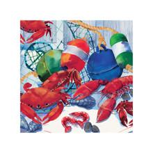 Seafood Celebration 16 Beverage Napkins Crab Boil Shrimp Lobster
