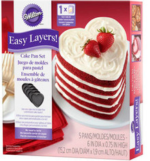 Easy Layers Wilton 5 Pc Heart Shaped Non Stick Pans Valentines Wedding