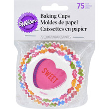Wilton 75 Words Can Express Valentine's Baking Cups Candy Hearts