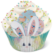 Wilton Peeking Bunny Cupcake Kit 48 Baking Liners Sprinkles Picks