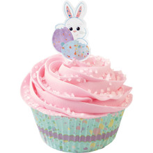 Wilton Sweet Splatters Bunny Cupcake Kit 24 Baking Cups Picks