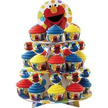 Sesame Street Elmo Treat Stand 25 Cupcake Holder Party Centerpiece