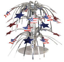 Cascade Centerpiece Stars Red White Blue 4th July Flag Stripes