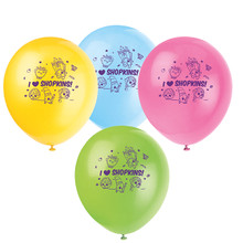 "Shopkins 8 Ct 12"" Latex Balloons Birthday Party Supplies"