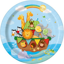 "Noah's Ark Baby Shower 9"" Luncheon Plates 8 Ct Lion"