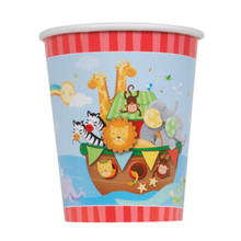 Noah's Ark Baby Shower 8 Ct 9 oz Paper Hot Cold Cups Elephant